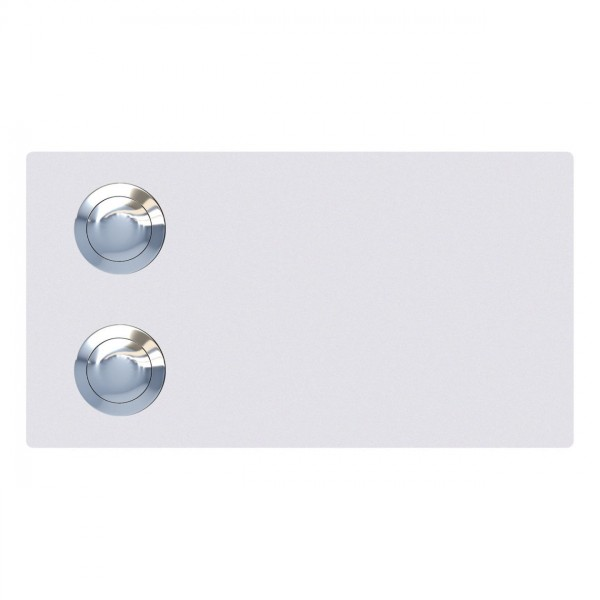 Klingeltaster Oblong for Two Weiß