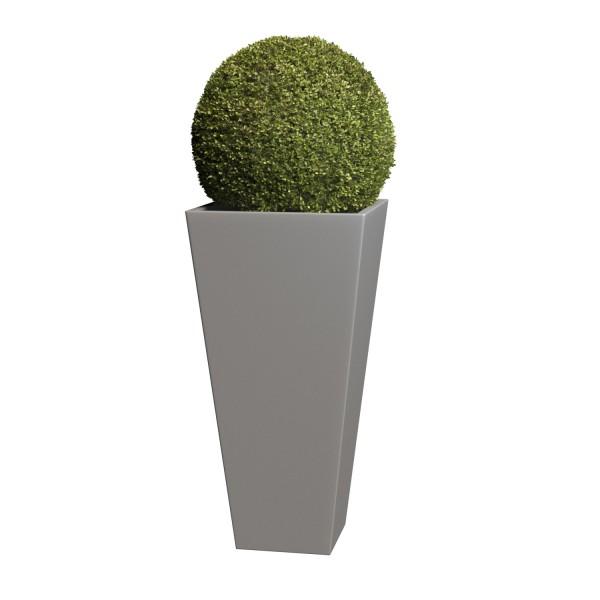 Pflanzkübel Vase Medium in Grau Metallic