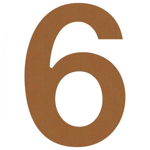 Hausnummer ''6'' Rost