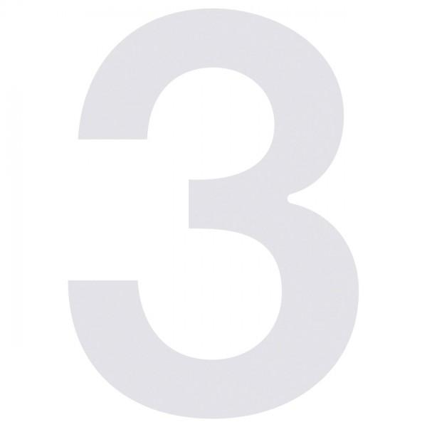 Hausnummer Design Nummer Weiss