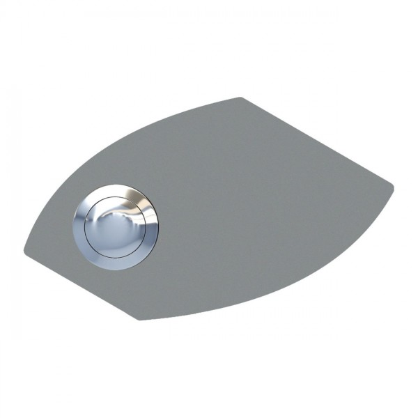 Klingeltaster Trapeze Grau Metallic