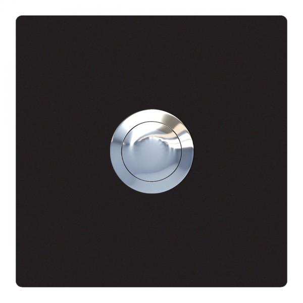 Klingeltaster Quadrat Schwarz