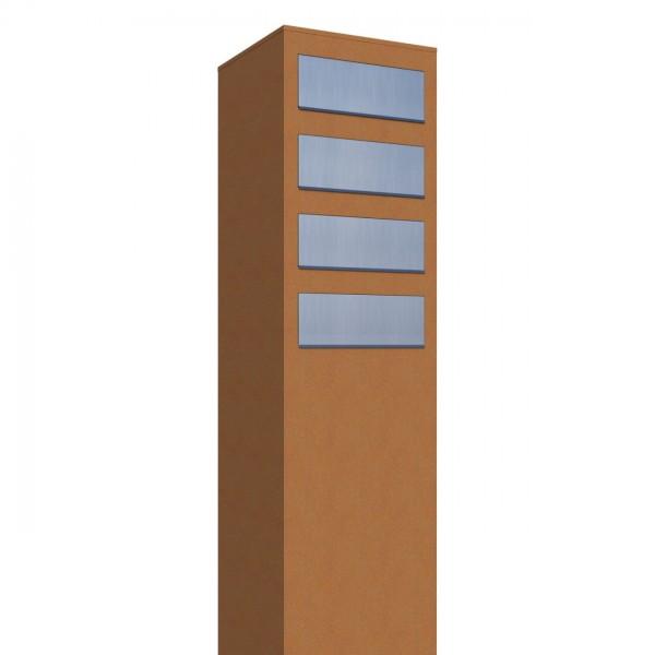 Briefkasten Design Briefkastenanlage Rost