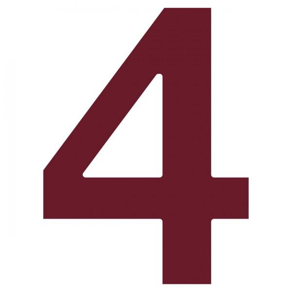 Hausnummer ''4'' Rot