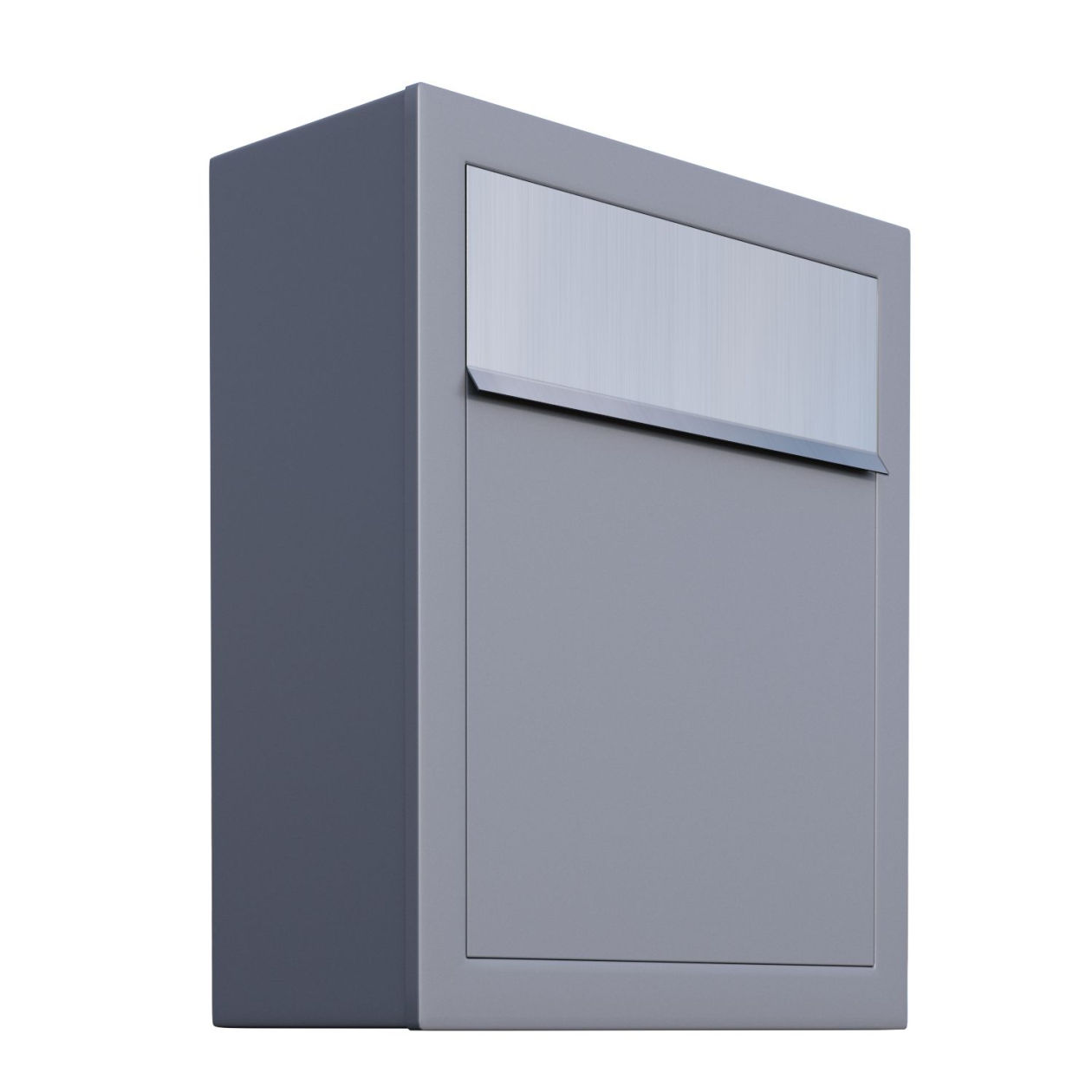 briefkasten design wandbriefkasten base grau metallic On bravios briefkasten