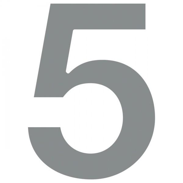 Hausnummer ''5'' Grau Metallic