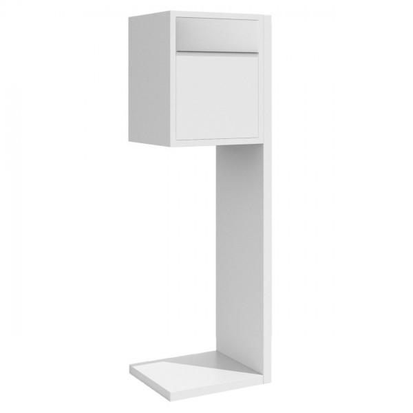 Briefkasten Design Standbriefkasten Weiss