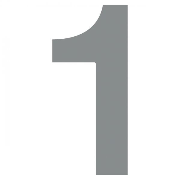 Nummer Design Hausnummer 1 Grau