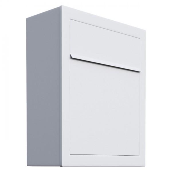 Briefkasten Design Wandbriefkasten Weiss