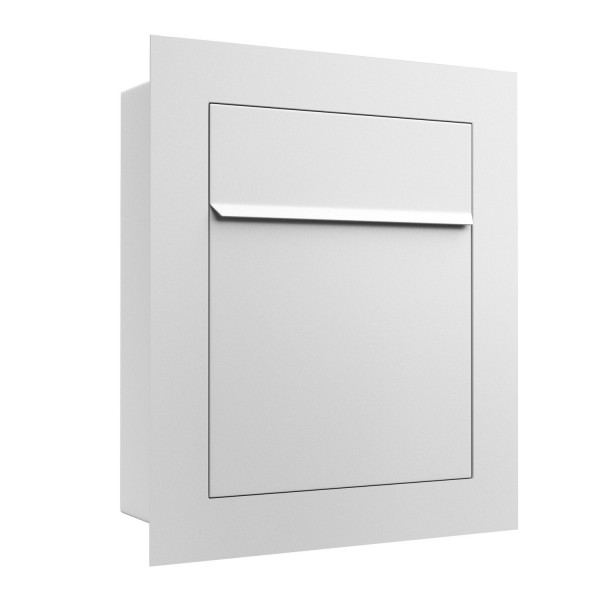 Unterputz Briefkasten - Einbaubriefkasten Bari in Weiss