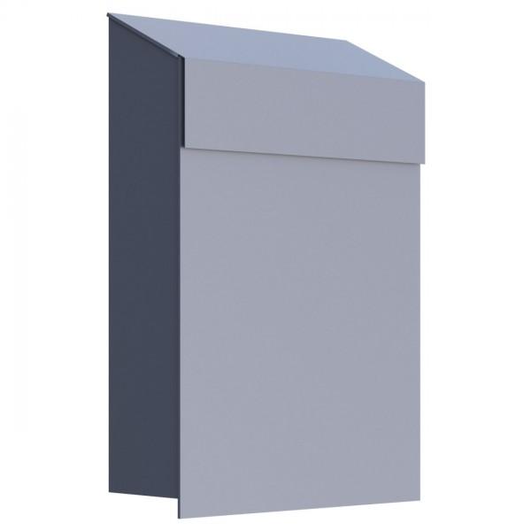 Briefkasten Baby Box Grau Metallic