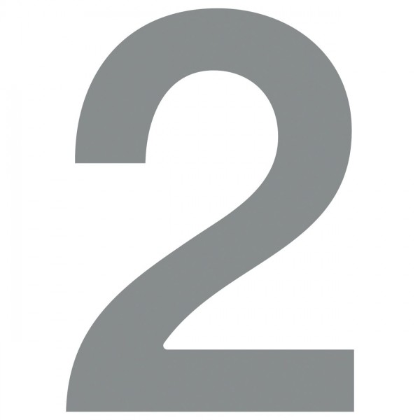 Hausnummer 4 Design Hausnummer aus Edelstahl in Grau Metallic