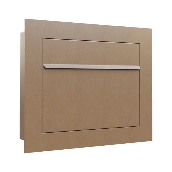 Unterputz Briefkasten - Einbaubriefkasten Sora in Rost