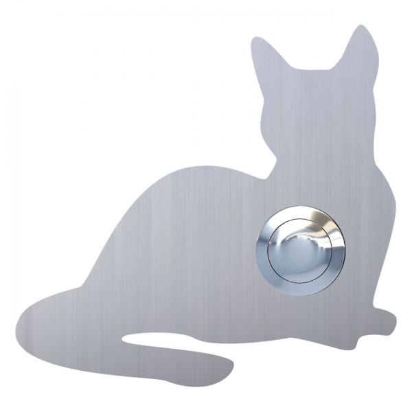 Klingeltaster Katze ''Kitty'' Edelstahl